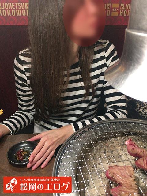 近所の女と焼肉デートした写メ