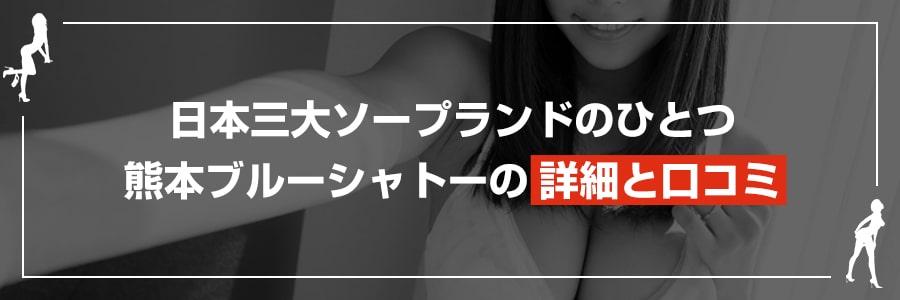 日本三大ソープランドのひとつブルーシャトーの詳細と口コミ